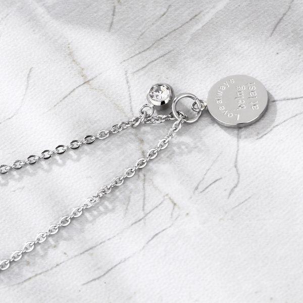 316L鈦鋼項鍊 圓牌造型 女生項鍊 精緻項鍊 生日禮物 閨蜜禮物 單條價【AJS111】Z.MO鈦鋼屋