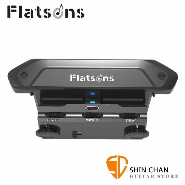 Flatsons FR2 響孔式 加震拾音器 雙收音 內建效果 民謠吉他專用【FR-2】