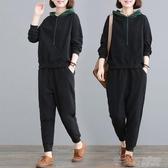 2020新款韓版春秋季休閒運動寬鬆兩件套裝女加大碼加肥200斤衛衣 茱莉亞