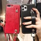 IPhone XR手機殼腕帶創意 蘋果11Pro Max手機套 商務蘋果X/Xs Xs Max保護套 皮套時尚iPhone7/8保護殼