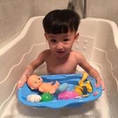 寶寶戲水玩具小浴盆兒童仿真過家家嬰兒水上洗澡娃娃『快速出貨』