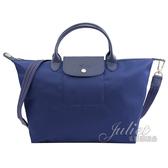茱麗葉精品【全新現貨】Longchamp Le Pliage Neo 折疊厚尼龍兩用包.深藍 大 #1515