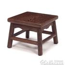 雞翅木圓角家用板凳方凳 實木凳子原木矮凳換鞋凳木質兒童凳餐凳  居樂坊生活館YYJ