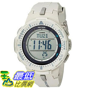 [美國直購] 手錶 Casio Mens ProTrek Triple Sensor Quartz Resin Automatic Watch White PRG-300-8CR