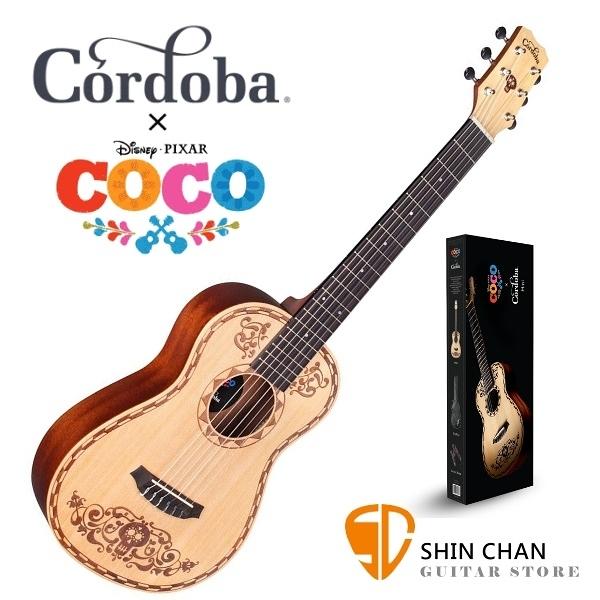 可可夜總會 迪士尼.皮克斯 Disney • Pixar Coco x Cordoba Mini Spruce 雲杉木小古典吉他 34吋 贈原廠袋