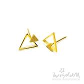 威世登 金流線型貼耳耳環-附矽膠耳束 金重約0.47~0.49錢 GF00277-EEX-FIX