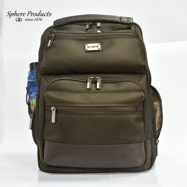後背包 筆電收納 都會商務 休閒兩用 DC7030-BR 咖啡色 Sphere 斯費爾專賣
