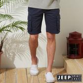 【JEEP】經典造型口袋短褲-藍