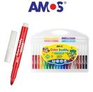 促銷價 (水彩筆)24色【韓國 AMOS】意大利製造 AMOS超易水洗水彩筆24色 美術繪畫筆盒裝