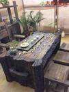 【大熊傢俱】老船木 泡茶台 原木桌 茶台 桌子 實木桌 原生態 茶几 休閒組椅