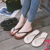 拖鞋 夾腳拖鞋 人字拖 女士情侶平底學生簡約時尚外穿海邊平跟防滑沙灘涼拖鞋