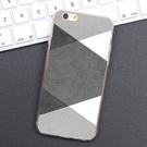 iPhone 6 6S i6 plus i6plus se 5 i5 5S 手機殼 軟殼 外殼 簡約灰白格紋