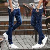 牛仔褲男士小腳褲夏季薄款長褲