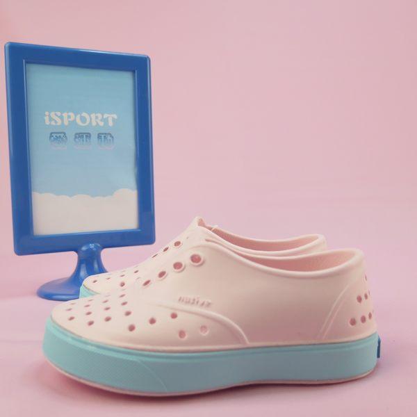 【iSport愛運動】Native MILLER CHILD 童鞋 洞洞鞋 131002005983 粉紅x綠