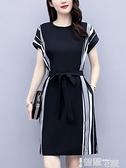 雪纺洋裝 短袖連身裙女2021年新款夏裝收腰顯瘦氣質韓版時尚輕熟風雪紡裙子 【99免運】