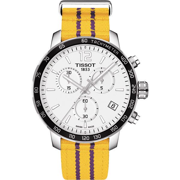 點燃籃球魂 TISSOT 天梭 X NBA :洛杉磯湖人隊特別版手錶-42mm T0954171703705