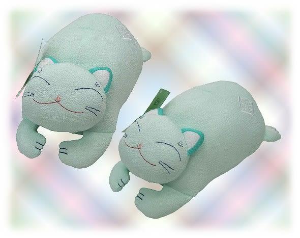 【波克貓哈日網】福貓/招財貓◇玩偶擺飾◇《淺藍綠色》