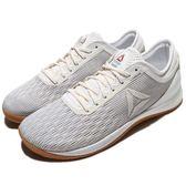 Reebok 訓練鞋 R CrossFit Nano 8.0 白 咖啡 八代 健身專用 膠底 重量訓練 男鞋【PUMP306】 CN1020