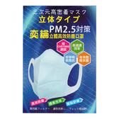 【抗空污】奕綸 立體 高效 防塵 防霾 pm2.5 口罩-3包 (2片/包) (XL)男性適用