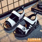 涼鞋  兒童涼鞋男夏季新款男童涼鞋中大童韓版潮軟底防滑學生沙灘鞋