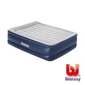 【南紡購物中心】Bestway。自動快充植絨雙人加大充氣床(灰/藍)67615E