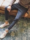 牛仔褲 夏季薄款褲子男牛仔褲潮牌休閑寬鬆直筒長褲韓版潮流修身小腳男士