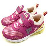 《7+1童鞋》FILA 2-J422T-294  輕量 炫彩氣墊鞋  運動鞋  4234  桃色