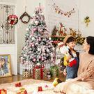 粉色玫紅1.5米迷你小大型聖誕樹仿真樹家用裝飾聖誕節套餐裝飾品 夢藝家