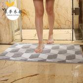 地墊 3D立體地墊家用衛浴浴室廁所洗手間門口吸水防滑墊進門地毯門墊【1件免運好康八折】