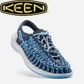 【KEEN 美國 女款 編繩涼鞋《深藍/粉藍》】1016897/編織涼鞋/涼鞋/休閒涼鞋★滿額送