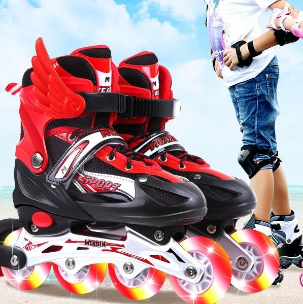 直排輪 輪滑溜冰鞋兒童全套套裝3-6初學者5可調大小8旱冰4男童12女童10歲【快速出貨八折下殺】
