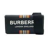 【台中米蘭站】全新品 BURBERRY 防刮牛皮寬背帶斜背/手拿包(8033852-黑)