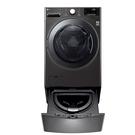 (送陶板屋餐卷5張)回函贈 LG樂金19公斤滾筒蒸洗脫烘+2.5公斤溫水下層洗衣機WD-S19VBS+WT-D250HB