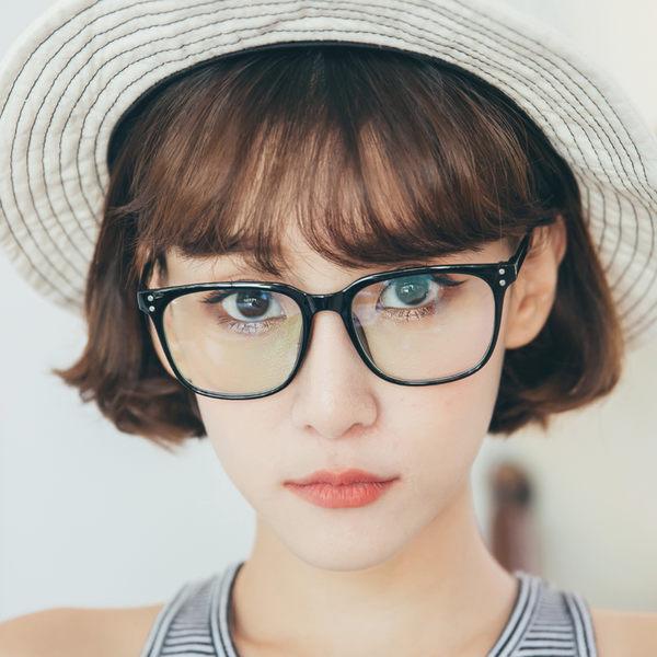 ASLLY濾藍光眼鏡-迷幻星球的冒險家/TR90百搭黑粗框眼鏡