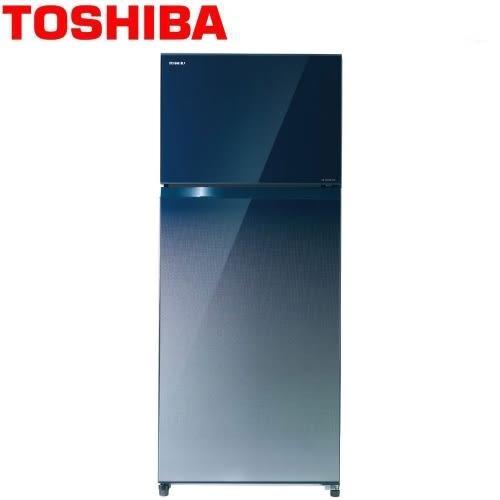 【佳麗寶】-(TOSHIBA)608L玻璃鏡面二門變頻電冰箱GR-WG66TDZ(GG)