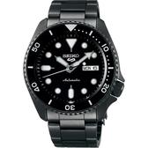 SEIKO 精工 5 Sports 系列機械錶-鍍黑/42.5mm 4R36-07G0SD(SRPD65K1)