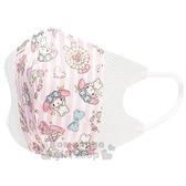 〔小禮堂]美樂蒂 兒童不織布立體口罩組《10入.粉.滿版》面罩.衛生用品 4973307-43407