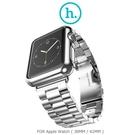 【愛瘋潮】HOCO Apple Watch (38mm / 42mm) 守護者電鍍殼+格朗鋼錶帶-三珠款 銀色款 現+預
