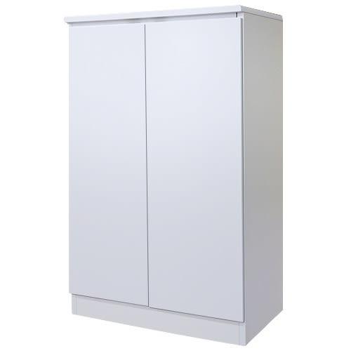 【藝匠】兩密門鏡面PU鞋櫃/書櫃 收納櫃 鞋櫃 家具 置物櫃 櫃子 收藏 組合櫃 (白)