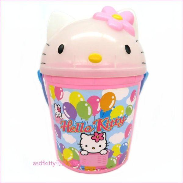 asdfkitty可愛家☆KITTY大頭造型置物桶/收納桶/垃圾桶/玩具收納-2003年絕版商品-日本正版商品