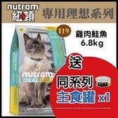 【送同系列主食罐*1】*KING*【全省免運】紐頓《專業理想系列-I19三效強化貓 配方》6.8kg