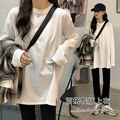 孕婦裝 MIMI別走【P51973】穿搭必備 棉質無印圓領上衣 內搭衣 寬版有型