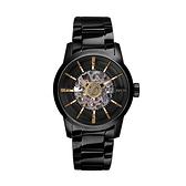 【Relax Time】簡約時尚鏤空機械腕錶-點綴金/RT-38J-2/台灣總代理公司貨享一年保固
