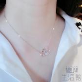 天鵝幸運項鏈女短款鎖骨鏈吊墜玫瑰金日韓飾品女【極簡生活】