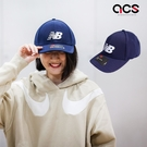 New Balance 帽子 Logo Baseball Cap 藍 白 男女款 老帽 棒球帽 運動休閒 【ACS】 MH934307PIW
