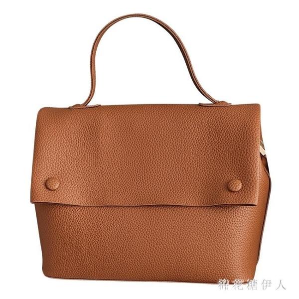 韓版大包包2020新款洋氣寬帶手提托特包時尚斜挎單肩包 XN10028【棉花糖伊人】