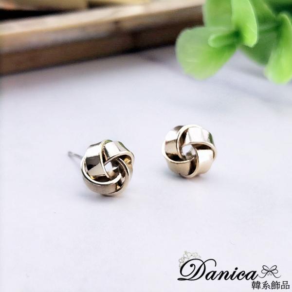 現貨不用等 韓國氣質簡約百搭金屬感幾何扭轉纏繞925銀針耳環 S93505 批發價 Danica 韓系飾品