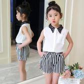 女童套裝 2019新款時髦套裝6洋氣7女孩衣服8兒童兩件套9潮10-13歲TA6843【極致男人】