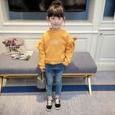 女童衛衣春裝新款韓版兒童裝女寶寶秋冬加厚抓絨套頭長袖上衣 CY潮流站