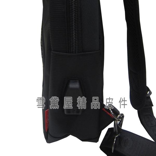 ~雪黛屋~OVER-LAND 單肩後背包小容量內固定水瓶袋充電孔單右肩單左肩防水尼龍布輕便隨身物品T5209